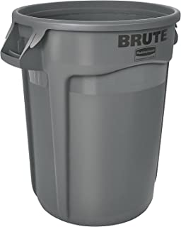Rubbermaid Commercial 10 Gallon Brute Container Gray 2610-Gray (1 Each)