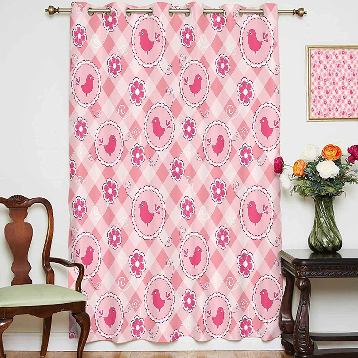 Blackout Curtains Panels Cheerful Composition Birds with Da Cute Limited San Francisco Mall Special Price