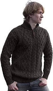West End Knitwear Merino Wool Half Zip Irish Sweater