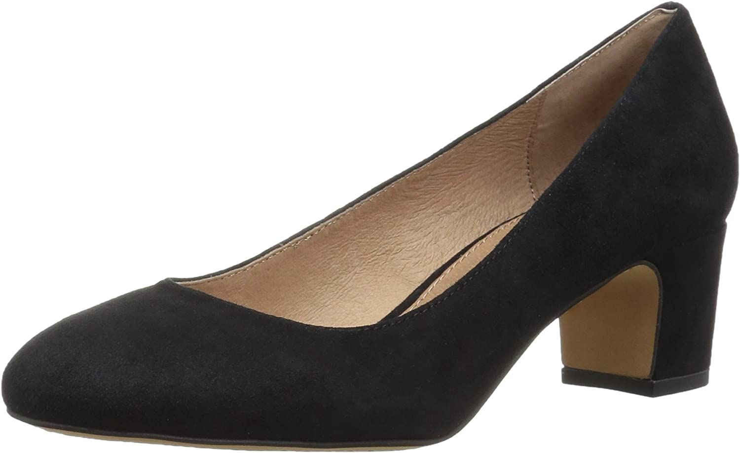 206 Collective Women's Merritt Round Toe Block Heel Pump-Low