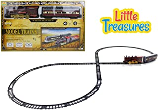 Little Treasures Locomotive Passenger Train with A Complete Set of Tracks Quality Fun Toy for Children 3 Plus