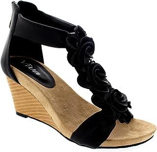 c167a637c2b Amazon.co.uk: Black - Fashion Sandals / Sandals & Slides: Shoes & Bags