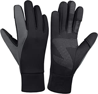 Cierto Winter Cycling Gloves for Men & Women Waterproof with Open Fingertips