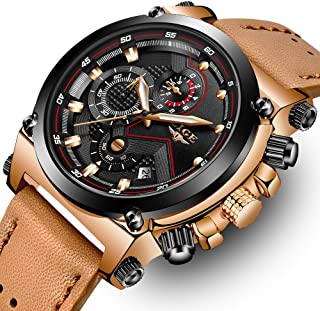 LIGE Mens Watches Waterproof Chronograph Stainless Steel Analog Quartz Watch Men Luxury Brand Fashion Dress Business