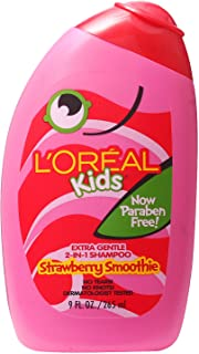 L'Oreal Kids Extra Gentle 2-in-1 Shampoo, Strawberry Smoothie, 9 fl. oz.