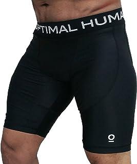 Optimal Human Men's Compression Shorts Best for MMA, UFC, No-Gi, BJJ, and Muay Thai | Targeted Compression | Guardian I