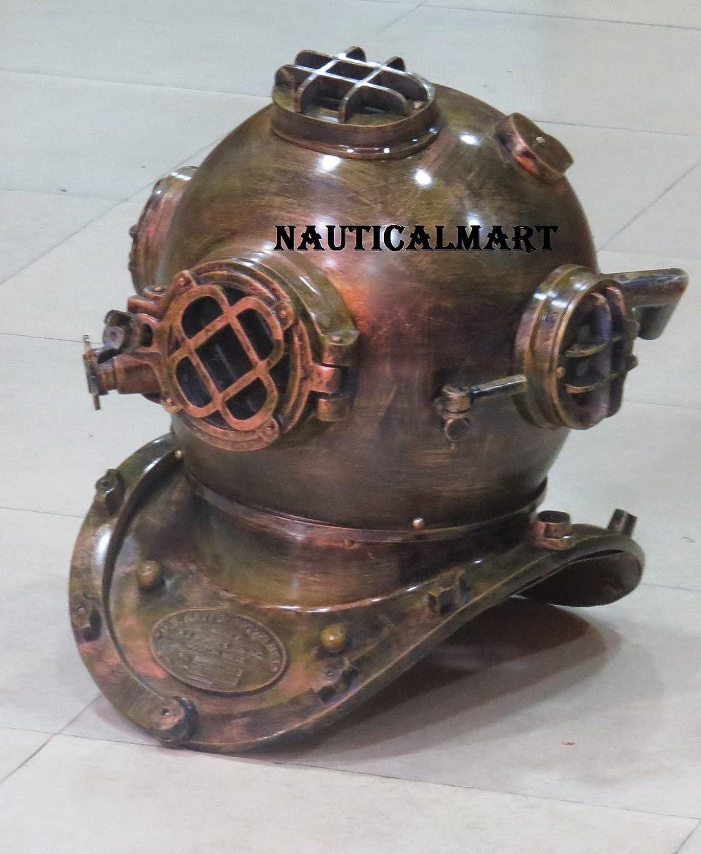 NAUTICALMART FullSize Replica US Navy Mark V Deep Sea Diving Divers Helmet