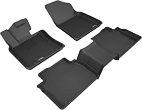 3D MAXpider Complete Set Custom Fit All-Weather Floor Mat for Select Toyota Camry Models - Kagu Rubber (Black)