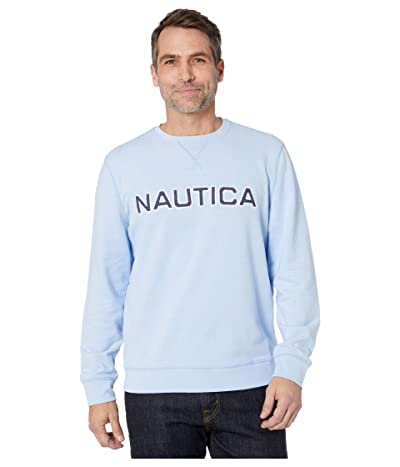 Nautica Long Sleeve Crew Solid (Blue 1) Men