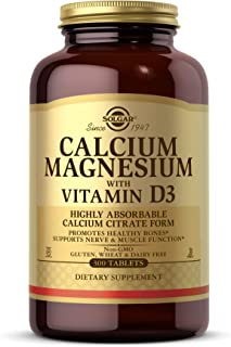 Solgar Calcium Magnesium with Vitamin D3, 300 Tablets - Promotes Healthy Bones, Supports Nerve & Muscle Function - Highly ...