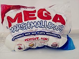 Mega Marshmallows – Extra grande – 600 gramos – perfecto para barbacoa, hoguera, hornear, smores y aperitivos