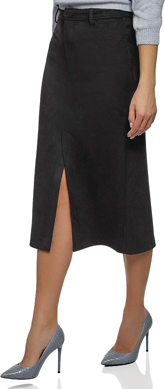 oodji Ultra Women's Faux Suede Pencil Skirt