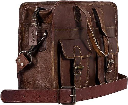 Leather 15 Laptop Briefcase Bag