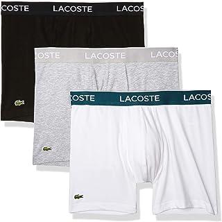 Lacoste Men's Casual Classic 3 Pack Cotton Stretch Boxer Briefs