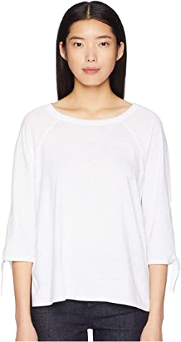 Jewel Neck 3/4 Sleeve Tee