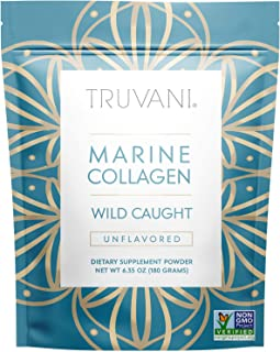 TRUVANI - Wild Caught Hydrolyzed Marine Collagen Protein Powder | Collagen Protein Supplement with Type 1,2 & 3 | Anti-Ski...