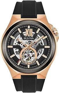 Bulova - Reloj Analógico para Hombre de Automático con Correa en Silicona 98A177