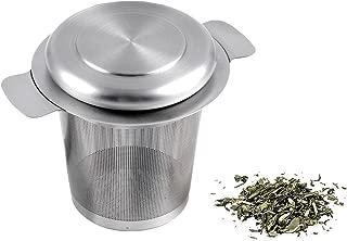 BlueBeach® Acero Inoxidable Colador de Té Filtro de Té Infusor de Té con Tapa para Tazas del Té / Ollas del Té