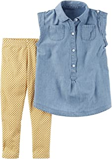 Carters Big Girls 2-Pack Stretch Cotton Geo and Ombr/é Leggings 6