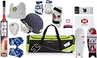 SS Best Sports 100% Original Brand Cricket Complete Batting Set with Accessories Ranger Cricket Bat+Batting Gloves+Score Book+Elbow Sleeve+Batting Legguard+Chest Guard+Elbow Guard (Cricket kit)