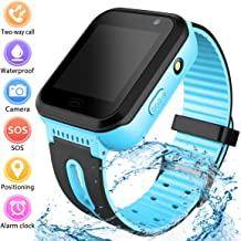 Kids Smart Watch for Boys Girls Gift - Child Sports Watch Phone Digital Wrist SOS Call Camera Flashlight Alarm Clock for Children Games Watches LBS Tracker SIM Card Slot Age 3-12 Android Smartwatch