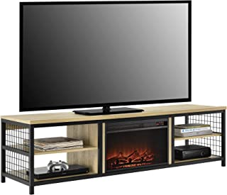 Ameriwood Home Brookspoint TV Stand with Fireplace for TVs up to 75