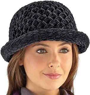 Etc Roll Brim Chenille Hat Brown