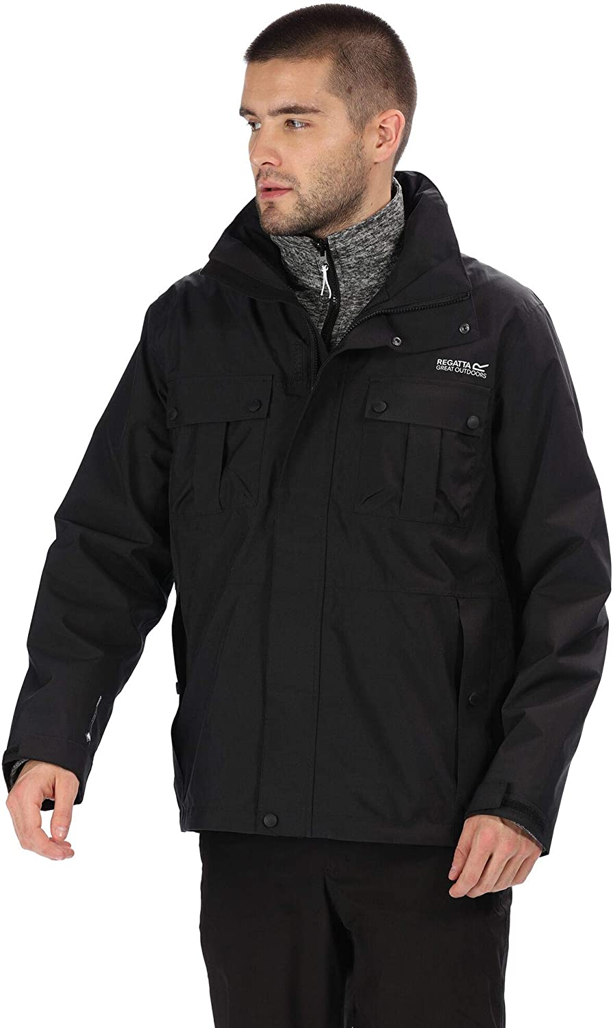Regatta Indefinitely Mens Northton III 3 In Jacket Hood Concealed Max 48% OFF With 1