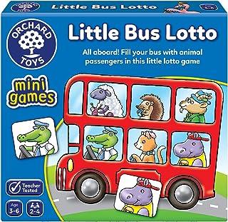 Orchard Toys Little Bus Lotto Mini Game, multi-colour, Board Game, 355