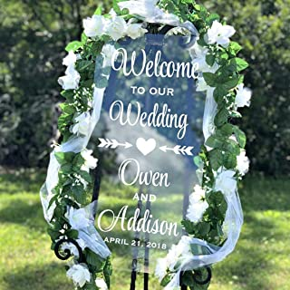 Welcome To Our Wedding Decal, Personalized Welcome Wedding Decal, Several Sizes & Colors, DECAL ONLY