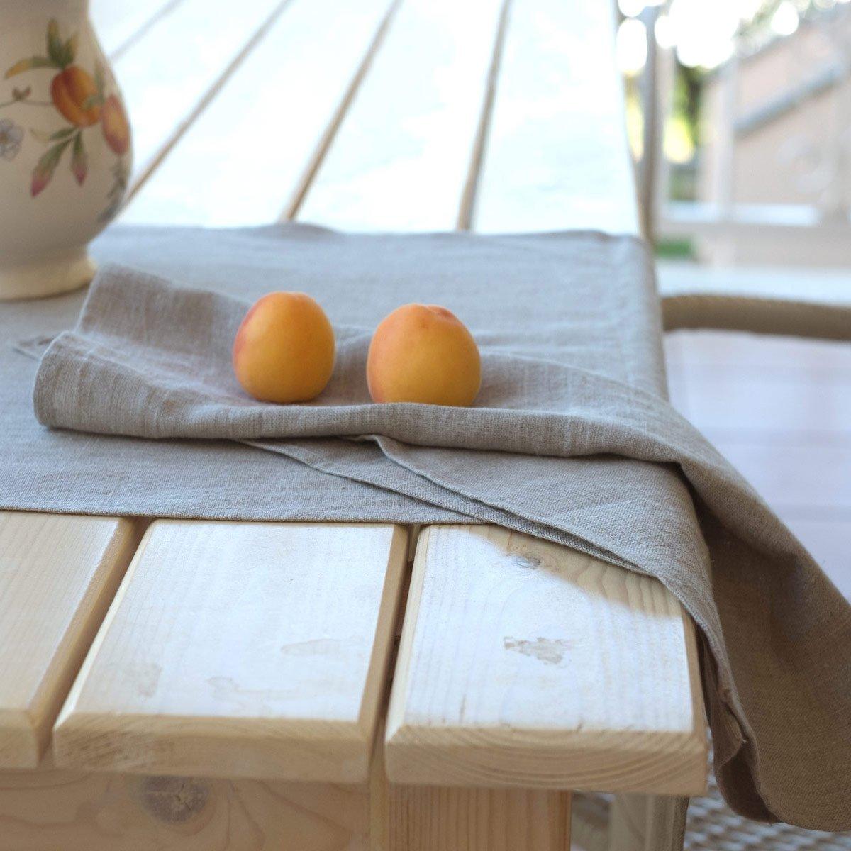 50 x 50 cm 4-er Pack Leinen Servietten Farbe Beige//Varvara Home 1586 Stoffservietten