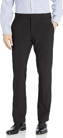 Izod Men's Advantage Performance Flat Front Straight Tapered Fit Chino Pant Khakis