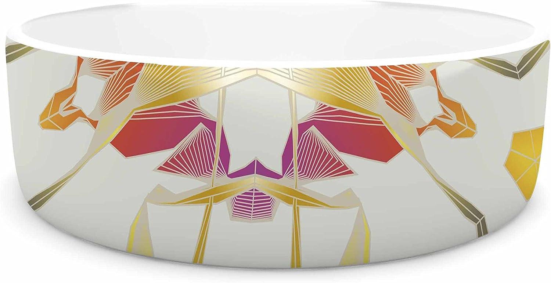 KESS InHouse Angelo Cerantola Glorious  gold Digital Pet Bowl, 7