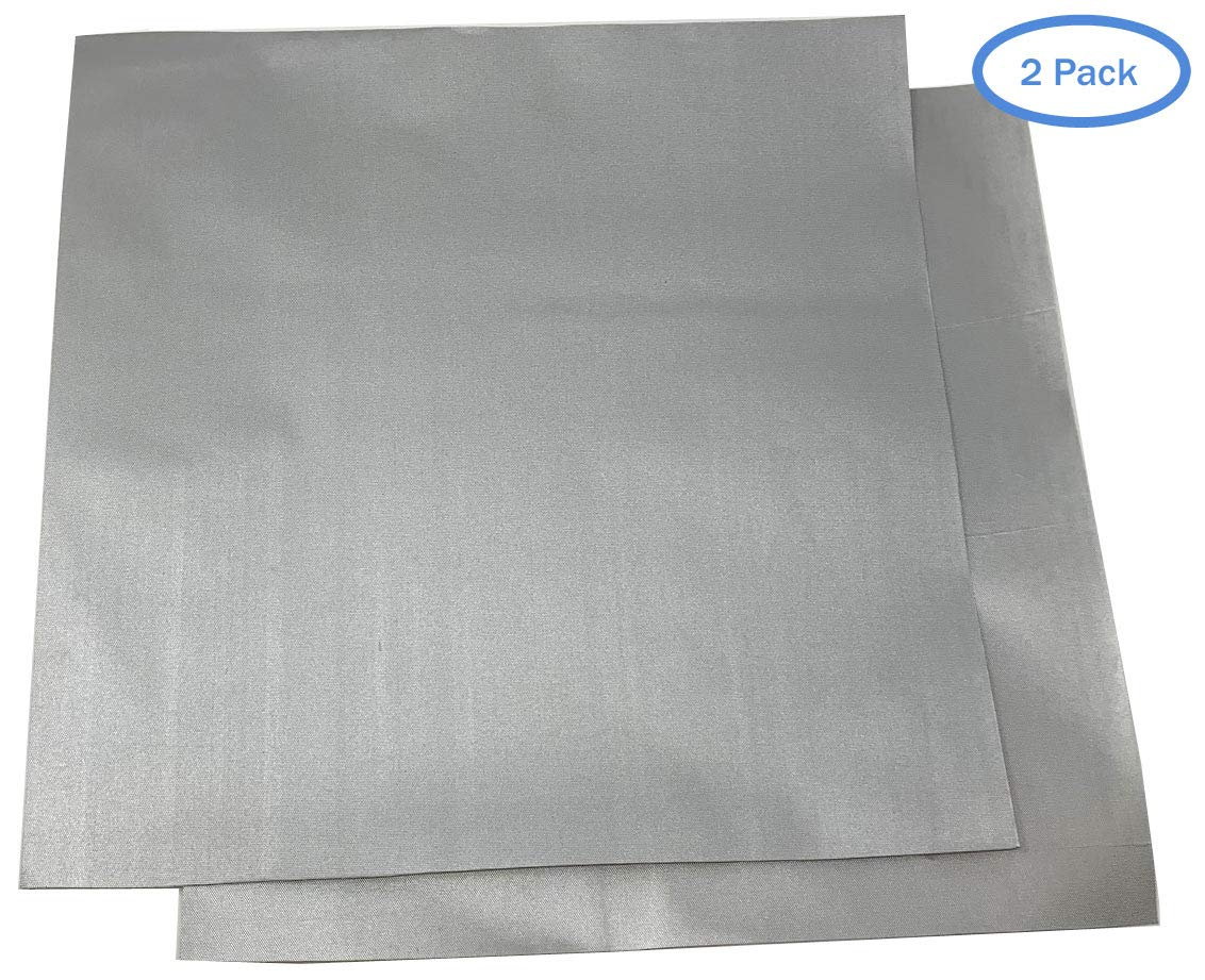 1 ft x 1ft Patch 2 Pack Silver Polyester Material RV Covers Car Covers Patch for Car Covers Use On Boat Covers Motorcycle Covers and More - New Updated Super Strong Self Adhesive Backing