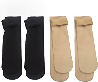 4 Pares Mujer Calcetines Algodón Forro polar Calcetines