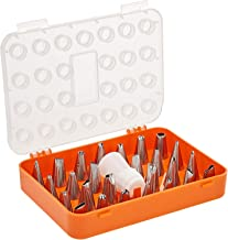 Harmony Pattern Nozzles With Storage Case - 26 Pieces,Orange