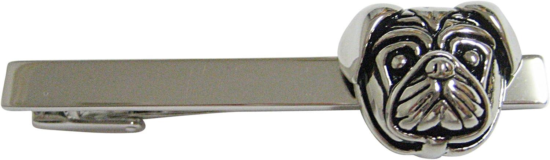Pug Dog Head Square Tie Clip