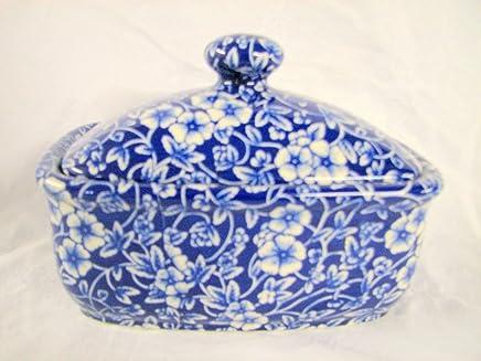 Blaue, viktorianische Chintz-Butterdose preisvergleich bei geschirr-verleih.eu