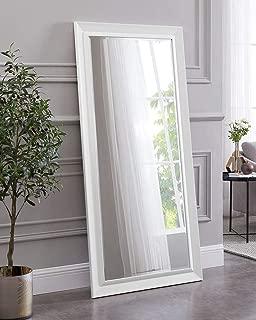 Naomi Home Framed Bevel Leaner Mirror White/66