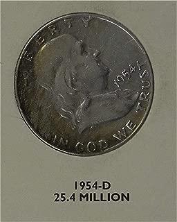 1954 D Franklin Half Dollar Very Good