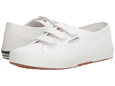 Superga 2750 Cot3VelU (White Canvas) Women