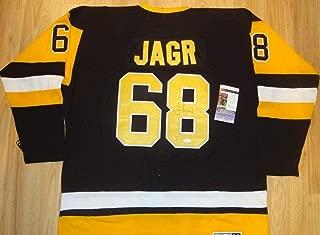 Jaromir Jagr Pittsburgh Penguins Autographed Signed Vintage Hockey Jersey (Size XL) Coa JSA