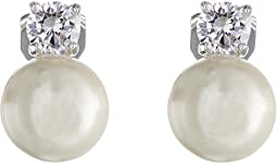 LAUREN Ralph Lauren - Pearl w/ Cubic Zirconia Clip Earrings