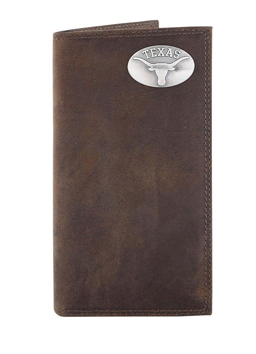 政令咽頭フィットNCAAテキサスLonghornsライトブラウンクレイジーホースレザーRoperコンチョ財布、1サイズ