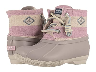 Sperry Kids Saltwater Boot (Toddler/Little Kid) (Oatmeal/Lilac) Girl