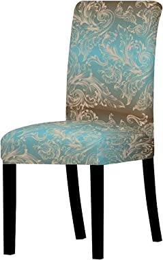 ZIJ Chair Covers Spandex Chair Cover Stretch Elastic Dining Seat Cover for Banquet Wedding Restaurant Hotel Anti-Dirty Remova