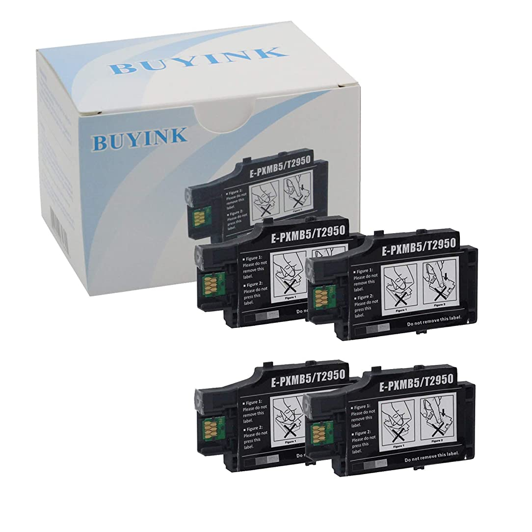 Buyink Remanufactured T2950 Ink Tank Maintenance Box Compatible For Workforce WF-100 WF-100W Inkjet Printer 4 Pack