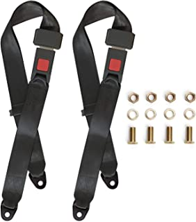 Universal Lap Seat Belt, 2 Point Adjustable Harness Kit for Go Kart, UTV, Buggies, Club Golf Cart, Van, VR, Bus,Truck, Cars, 2 Pack