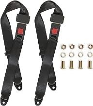 Universal Lap Seat Belt, 2 Point Adjustable Harness Kit for Go Kart, UTV, Buggies, Club Golf Cart, Van, VR, Bus,Truck, Cars, 2 Pack