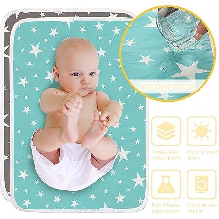 Reise-Wickelkissen wasserdicht atmungsaktiv wasserundurchl/ässig waschbar Wickelunterlage #2 wiederverwendbar 50 x 70 cm Multifunktionales Babybett